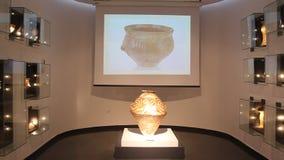 Ceramic Cucuteni stock footage