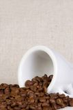 Ceramic cup and coffee Stock Photography