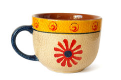 Ceramic cup in ethnic style Royalty Free Stock Photos