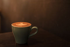 Ceramic cup of hot coffee Stock Photography