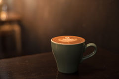 Ceramic cup of hot coffee Royalty Free Stock Image