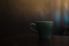 Ceramic cup of hot coffee Stock Photos