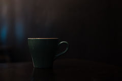 Ceramic cup of hot coffee Stock Images