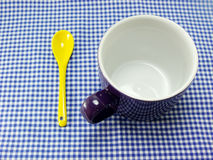 Ceramic cup and spoon Royalty Free Stock Photos