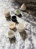 Ceramic cups Stock Images
