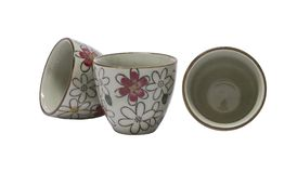 Ceramic cups,isolate on a white background. Components of the graphic design stock images