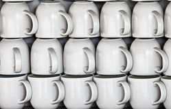Ceramic cups on market stall Stock Images