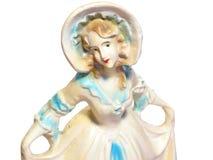 Ceramic dancer. Closeup of ceramic woman  dancer Royalty Free Stock Photo