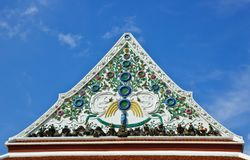 Ceramic decoration on temple roof Stock Photo