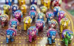 Ceramic decorative figures of the Indian elephant royalty free stock photo