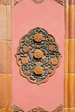 Ceramic detail from Royal Palace wall in The Forbidden City, Beijing Stock Image