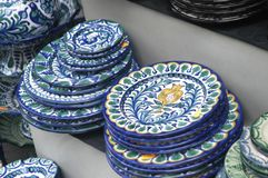 Ceramic dishes Stock Photos