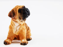 Ceramic dog. The statuette ceramic dog for gift or furniture or souvenir stock image