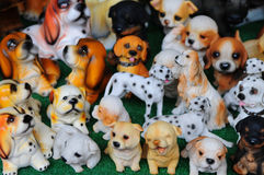 The ceramic dogs. Various of Colorful ceramic dogs Stock Photo