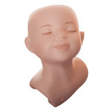 Ceramic doll head Royalty Free Stock Image