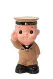 Ceramic Doll of Navy Stock Images