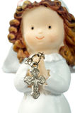 Ceramic doll praying Royalty Free Stock Image