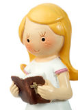 Ceramic doll praying Royalty Free Stock Images