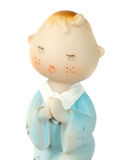 Ceramic doll praying Stock Photography