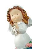 Ceramic doll praying Stock Photos
