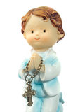 Ceramic doll praying Stock Images