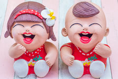 Ceramic doll sculpture Stock Photography