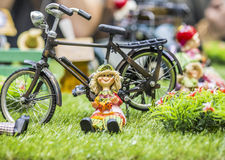 Ceramic dolls Stock Photo