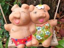 Ceramic dolls sculpture Stock Photo