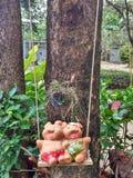 Ceramic dolls sculpture Royalty Free Stock Image