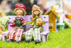 Ceramic dolls Stock Photography