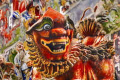 Ceramic Dragon Figurine Chen Ancestral Taoist Temple Guangzhou C Stock Photo