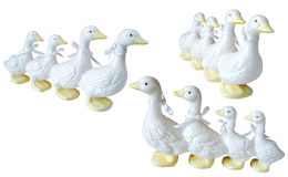 Ceramic duck knick knacks Stock Photography