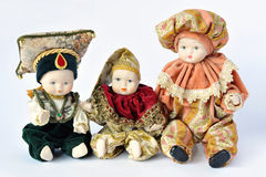 Ceramic dummies. Three ornamental ceramic dummies over white Stock Photography