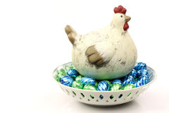 Ceramic easter chicken Royalty Free Stock Photography