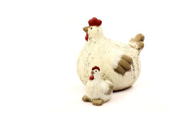 Ceramic easter chickens Royalty Free Stock Photos