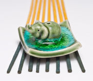 Ceramic elephant incense holder Royalty Free Stock Photos