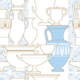 Ceramic Ethnic national Greek style seamless pattern Royalty Free Stock Photo