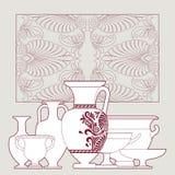 Ceramic Ethnic national Greek style seamless pattern. Ceramic seamless pattern. Ethnic national Greek style background Royalty Free Stock Photos
