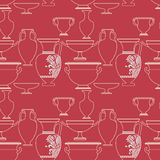 Ceramic Ethnic national Greek style seamless pattern. Ceramic seamless pattern. Ethnic national Greek style background Stock Photo