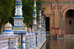 Ceramic fence inside Plaza de Espana in Seville Stock Image