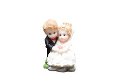 Ceramic Figures Of Newly-mariied Couple Royalty Free Stock Photo