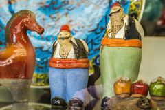 Ceramic figures of Turkish men in their national costumes Stock Photo