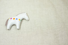 Ceramic figurine horses. Ceramic statuette of a horse as a gift for a dear person Royalty Free Stock Photography