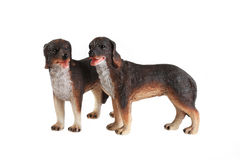 Ceramic figurines of dogs. Recover an apartment interior Royalty Free Stock Photos