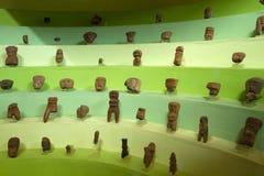 Ceramic figurines in a museum, Santa Elena Royalty Free Stock Images