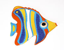 Ceramic fish. Ceramic figure of fish with the coloured glaze Stock Photo