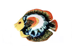 Ceramic fish. Ceramic figure of fish with the coloured glaze Stock Photography