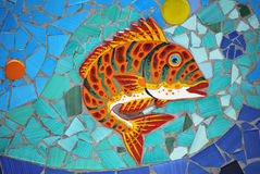 Ceramic Fish the Amalfi Coast, Italy Royalty Free Stock Photos
