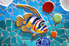 Ceramic Fish the Amalfi Coast, Italy Royalty Free Stock Image