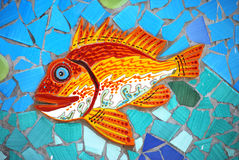 Ceramic Fish the Amalfi Coast, Italy Stock Image